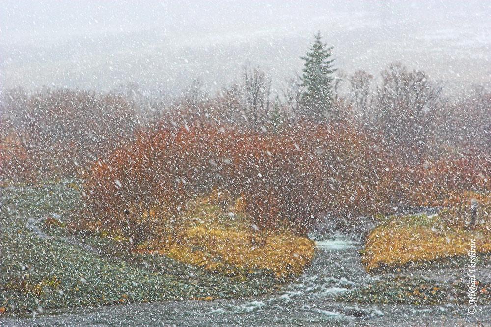 Снежная акварель